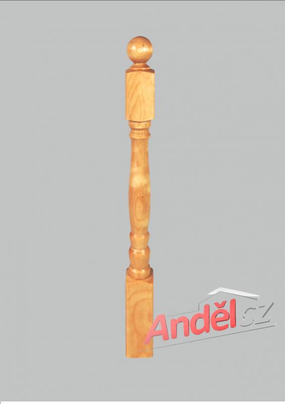 Dřevěný sloupek 04-80 pro dřěvěná zábradlí