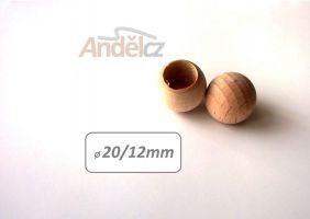 Koncovka prutu pr.12mm-kulička dubová