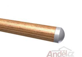 Koncovka madla kulatá nerez pro dřevěná madla ø42mm
