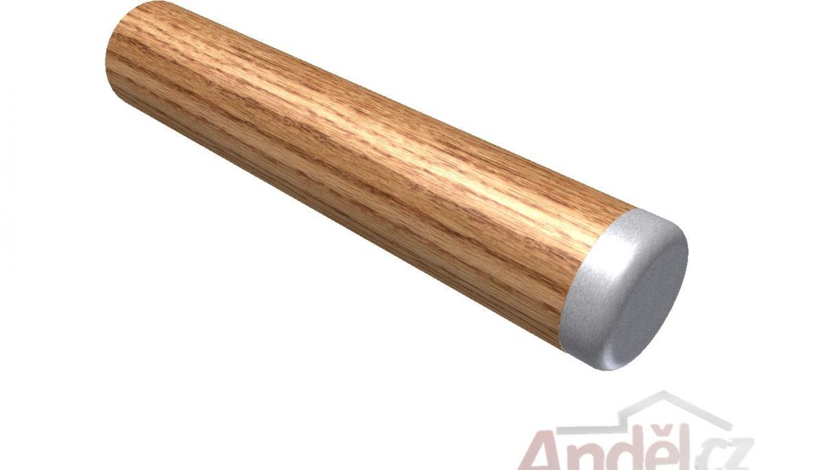 Koncovka zásleka konec madla plochý nerez pro dřevěná madla ø42mm
