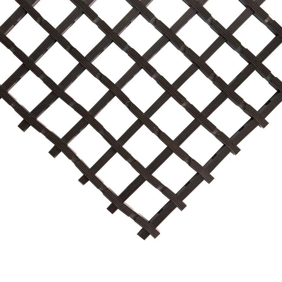 Černá univerzální průmyslová protiskluzová olejivzdorná rohož (mřížka 22 x 22 mm) - délka 10 m, šířka 90 cm a výška 1,2 cm FLOMAT