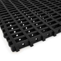 Černá olejivzdorná protiskluzová průmyslová univerzální rohož - 500 x 60 x 1,2 cm