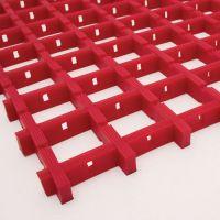 Červená univerzální průmyslová protiskluzová olejivzdorná rohož (mřížka 22 x 22 mm) - délka 10 m, šířka 120 cm a výška 1,2 cm FLOMAT