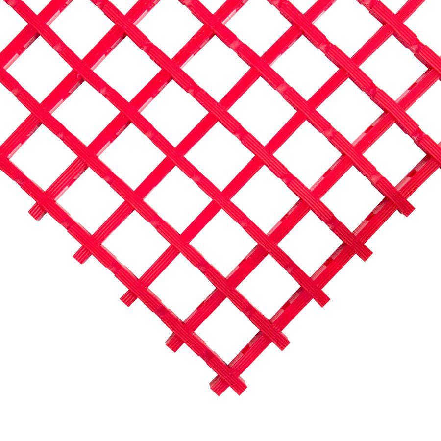 Červená univerzální průmyslová olejivzdorná rohož (mřížka 30 x 30 mm) - délka 5 m, šířka 120 cm a výška 1,2 cm FLOMAT