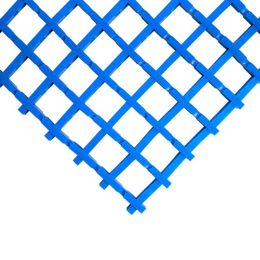 Modrá univerzální průmyslová protiskluzová olejivzdorná rohož (mřížka 22 x 22 mm) - délka 5 m, šířka 90 cm a výška 1,2 cm FLOMAT