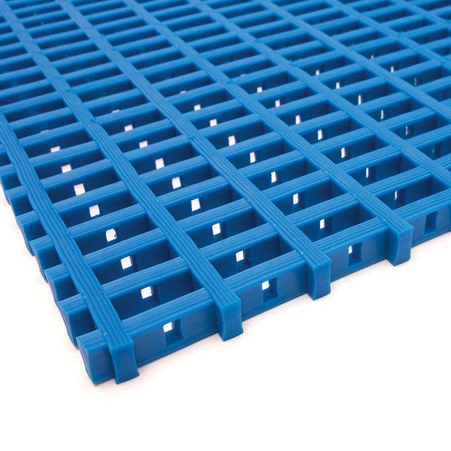Modrá univerzální průmyslová protiskluzová olejivzdorná rohož (mřížka 30 x 10 mm) - délka 10 m, šířka 90 cm a výška 1,2 cm FLOMAT
