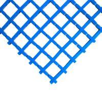 Modrá univerzální průmyslová protiskluzová olejivzdorná rohož (mřížka 22 x 22 mm) - délka 10 m, šířka 60 cm a výška 1,2 cm FLOMAT