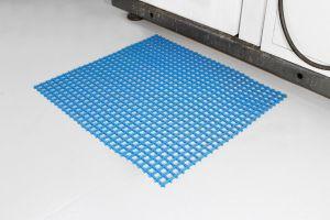 Modrá univerzální průmyslová olejivzdorná rohož (mřížka 30 x 30 mm) - délka 10 m, šířka 120 cm a výška 1,2 cm FLOMAT