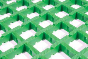 Zelená univerzální průmyslová protiskluzová olejivzdorná rohož (mřížka 22 x 22 mm) - délka 10 m, šířka 60 cm a výška 1,2 cm FLOMAT