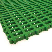 Zelená univerzální průmyslová protiskluzová olejivzdorná rohož (mřížka 30 x 10 mm) - délka 5 m, šířka 90 cm a výška 1,2 cm FLOMAT