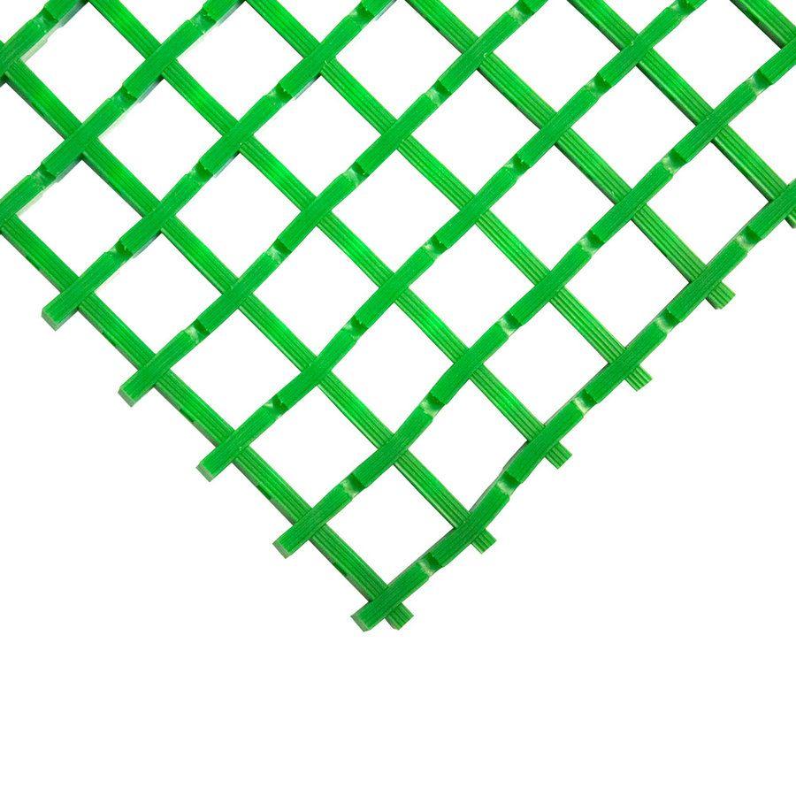 Zelená univerzální průmyslová olejivzdorná rohož (mřížka 30 x 30 mm) - délka 5 m, šířka 90 cm a výška 1,2 cm FLOMAT