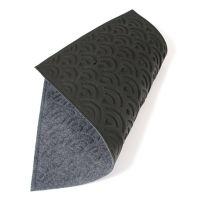 Antracitová textilní vstupní venkovní čistící rohož Circles, FLOMAT - délka 45 cm, šířka 75 cm a výška 1 cm