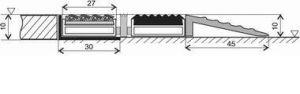 Černá gumová hliníková venkovní vstupní rohož Alu Low, FLOMAT - délka 100 cm, šířka 100 cm a výška 1 cm