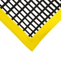 Černá univerzální průmyslová protiskluzová olejivzdorná rohož (mřížka 22 x 10 mm) - délka 180 cm, šířka 120 cm a výška 1,2 cm FLOMAT