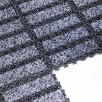 Černá plastová čistící vnitřní vstupní rohož - 20,5 x 20,5 x 1,6 cm