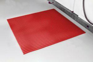 Červená univerzální průmyslová protiskluzová olejivzdorná rohož (mřížka 22 x 10 mm) - délka 5 m, šířka 90 cm a výška 1,2 cm FLOMAT