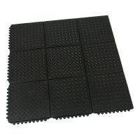 Gumová protiúnavová modulární rohož Diamond Plate Tile - 91 x 91 x 1,4 cm