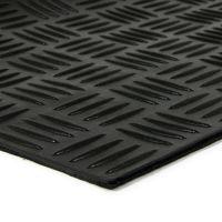 Gumová schodová rohož Criss Cross, FLOMAT - délka 25 cm, šířka 75 cm a výška 0,5 cm
