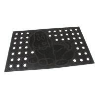 Gumová čistící děrovaná venkovní vstupní rohož Dog, FLOMAT - délka 45 cm, šířka 75 cm a výška 0,7 cm