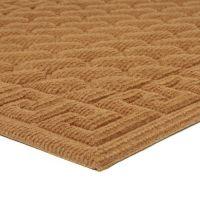 Hnědá textilní vstupní venkovní čistící rohož Bricks - Deco, FLOMAT - délka 45 cm, šířka 75 cm a výška 1 cm