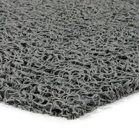 Šedá vinylová protiskluzová sprchová rohož Spaghetti, FLOMAT - délka 35 cm, šířka 59,5 cm a výška 1,2 cm