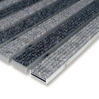 Textilní hliníková čistící vstupní vnitřní rohož Alu Low - 100 x 100 x 1 cm