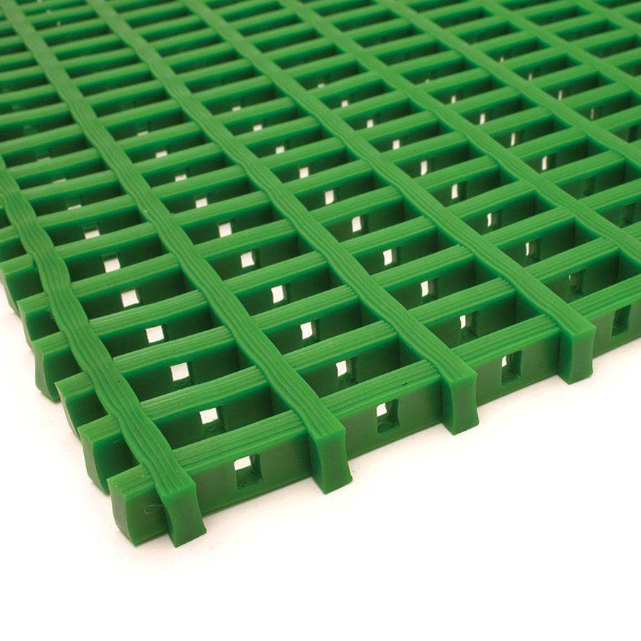 Zelená univerzální průmyslová protiskluzová olejivzdorná rohož (mřížka 22 x 10 mm) - délka 5 m, šířka 60 cm a výška 1,2 cm FLOMAT
