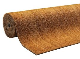 Béžová kokosová čistící vnitřní vstupní rohož Natural Coco - 240 x 100 x 1,5 cm