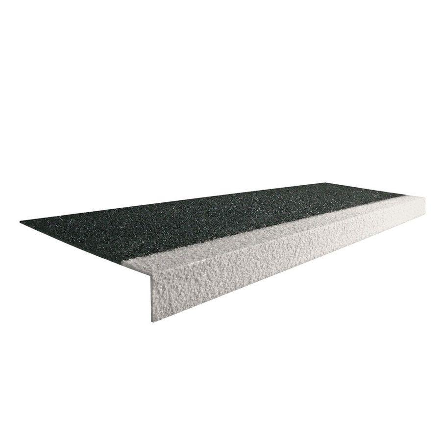 Karborundová schodová hrana - délka 100 cm, šířka 34,5 cm, výška 5,5 cm a tloušťka 0,5 cm FLOMAT