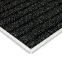 Černá kobercová vnitřní čistící zóna Shakira, FLOMAT - délka 100 cm, šířka 100 cm a výška 1,6 cm