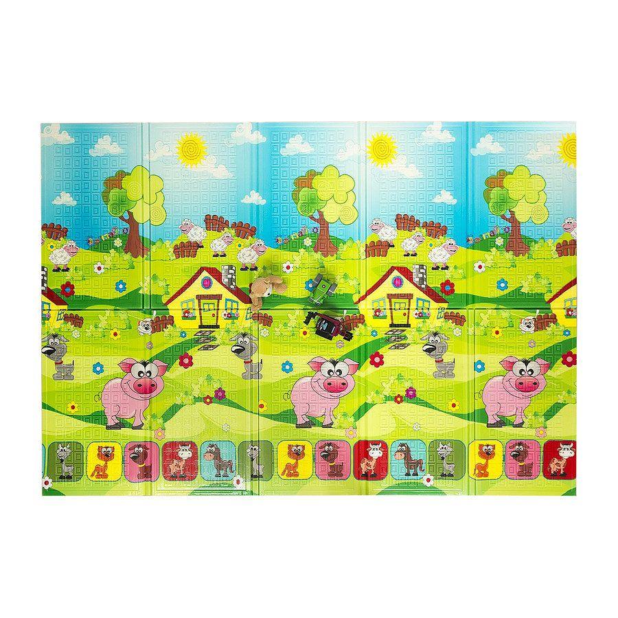 Dětská skládací pěnová hrací podložka Piggy, Casmatino - délka 200 cm, šířka 140 cm a výška 0,9 cm FLOMAT