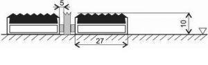 Gumová hliníková kartáčová venkovní vstupní rohož Alu Low Extra, FLOMAT - délka 100 cm, šířka 100 cm a výška 1 cm