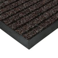 Hnědá textilní zátěžová čistící rohož Shakira - 200 x 500 x 1,6 cm