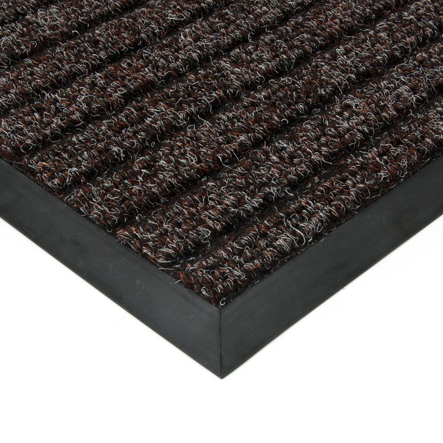 Hnědá textilní vstupní vnitřní čistící zátěžová rohož Shakira, FLOMAT - délka 200 cm, šířka 150 cm a výška 1,6 cm