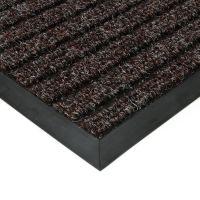 Hnědá textilní vstupní vnitřní čistící zátěžová rohož Shakira, FLOMAT - délka 90 cm, šířka 130 cm a výška 1,6 cm