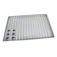 Kovová vstupní venkovní čistící rohož s rámem Grid, FLOMAT - délka 40 cm, šířka 60 cm a výška 3,2 cm
