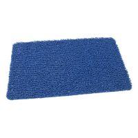 Modrá protiskluzová sprchová obdélníková rohož Spaghetti - 59,5 x 35 x 1,2 cm