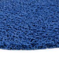 Modrá vinylová protiskluzová sprchová oválná rohož Spaghetti, FLOMAT - délka 39,5 cm, šířka 70 cm a výška 1,2 cm