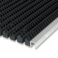 Plastová čistící venkovní vnitřní vstupní kartáčová rohož Wellbru - 100 x 100 x 2,2 cm