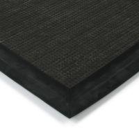 Černá textilní vstupní vnitřní čistící zátěžová rohož Catrine, FLOMAT - délka 110 cm, šířka 160 cm a výška 1,35 cm