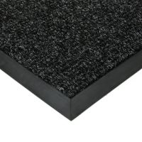 Černá textilní vstupní vnitřní čistící zátěžová rohož Catrine, FLOMAT - délka 150 cm, šířka 150 cm a výška 1,35 cm