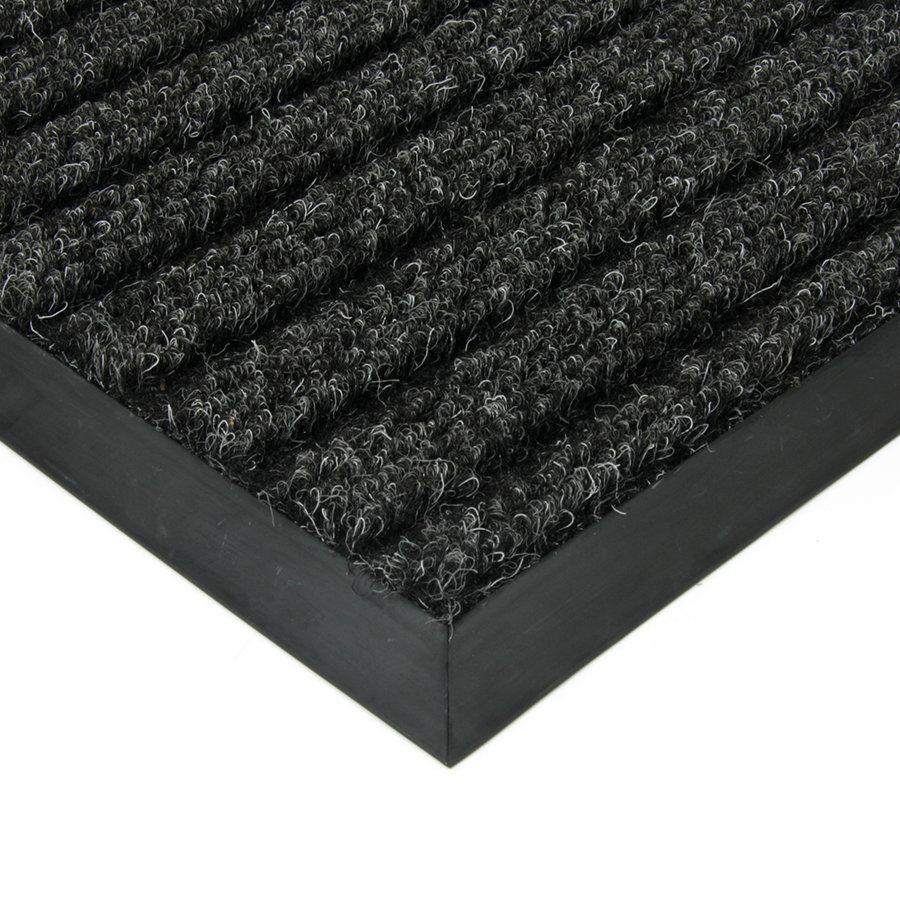 Černá textilní vstupní vnitřní čistící zátěžová rohož Shakira, FLOMAT - délka 400 cm, šířka 200 cm a výška 1,6 cm