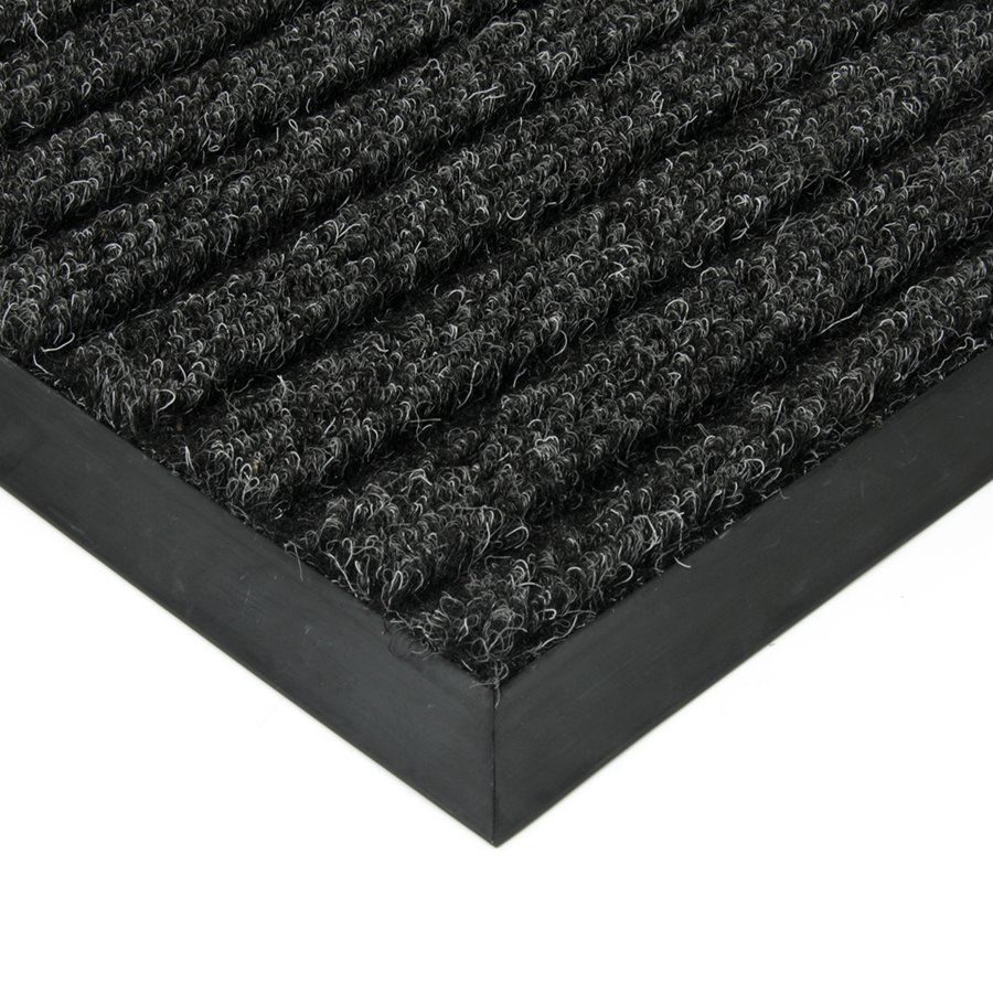 Černá textilní vstupní vnitřní čistící zátěžová rohož Shakira, FLOMAT - délka 500 cm, šířka 300 cm a výška 1,6 cm