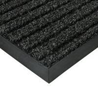 Černá textilní vstupní vnitřní čistící zátěžová rohož Shakira, FLOMAT - délka 90 cm, šířka 130 cm a výška 1,6 cm