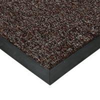 Tmavě hnědá textilní zátěžová čistící rohož Catrine - 100 x 100 x 1,35 cm