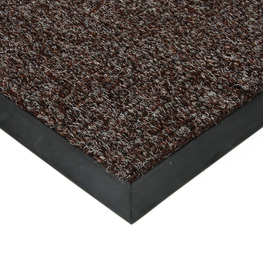 Tmavě hnědá textilní vstupní vnitřní čistící zátěžová rohož Catrine, FLOMAT - délka 300 cm, šířka 100 cm a výška 1,35 cm