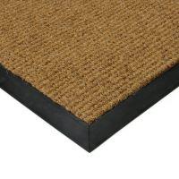 Béžová textilní zátěžová čistící vnitřní vstupní rohož Catrine, FLOMAT - délka 140 cm, šířka 190 cm a výška 1,35 cm