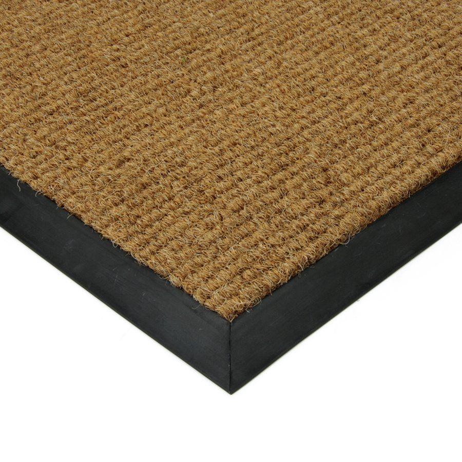 Béžová textilní vstupní zátěžová čistící vnitřní rohož Catrine, FLOMAT - délka 90 cm, šířka 130 cm a výška 1,35 cm