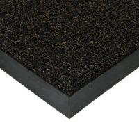 Černá textilní vstupní vnitřní čistící zátěžová rohož Catrine, FLOMAT - délka 80 cm, šířka 100 cm a výška 1,35 cm