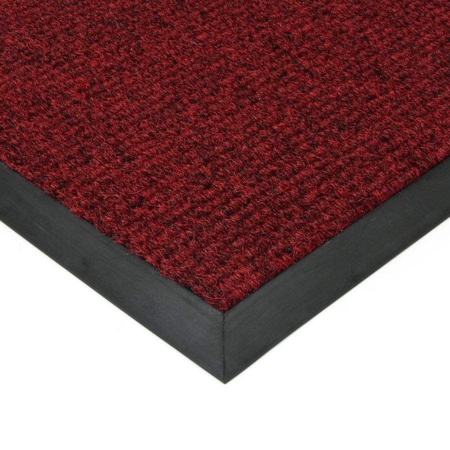 Červená textilní vstupní vnitřní čistící zátěžová rohož Catrine, FLOMAT - délka 300 cm, šířka 300 cm a výška 1,35 cm